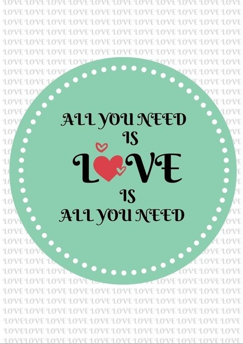 Poster All You Need is Love - comprar online