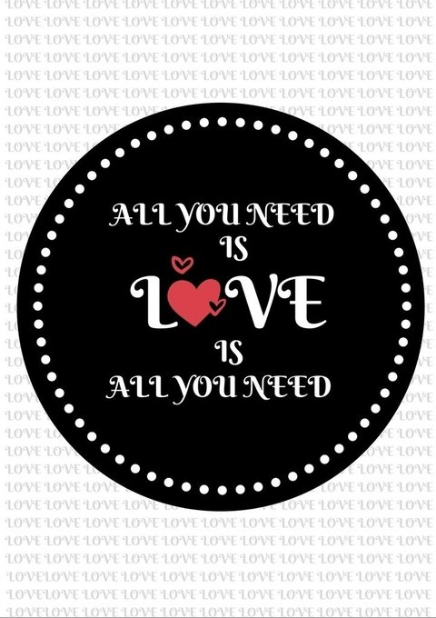 Poster All You Need is Love na internet