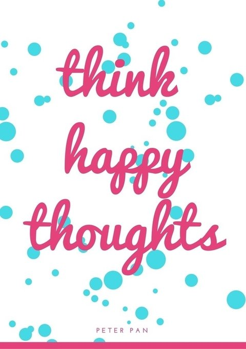 Poster Think Happy - comprar online