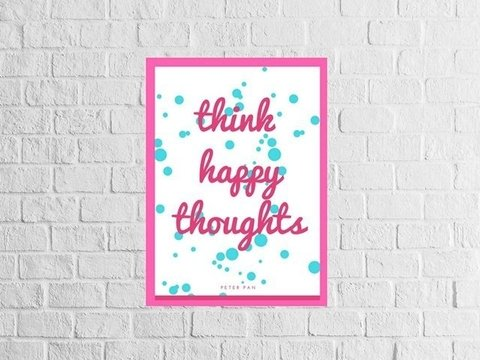 Poster Think Happy