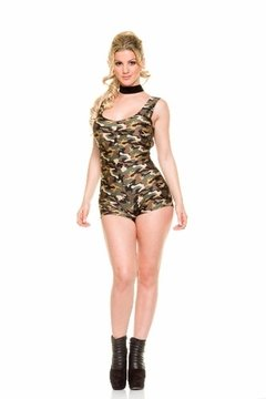 Catuist Enterito Mono Camuflado Short-efecto Push Up