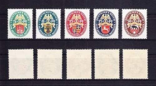 D. Reich 1928. Escudos De Armas Provinciales.serie Completa