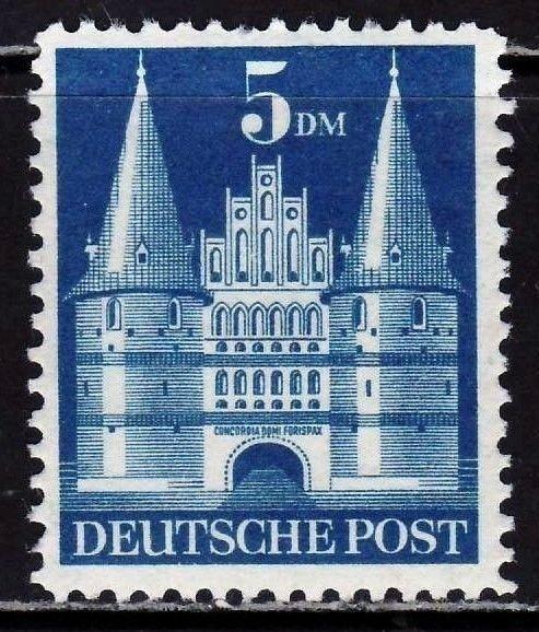 Bizona 1948. Edificios. 5 M. Máximo valor de la serie. MH