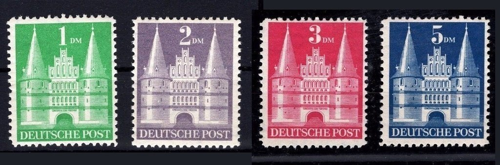Bizona 1948. Serie de edificios. Altos valores. MH