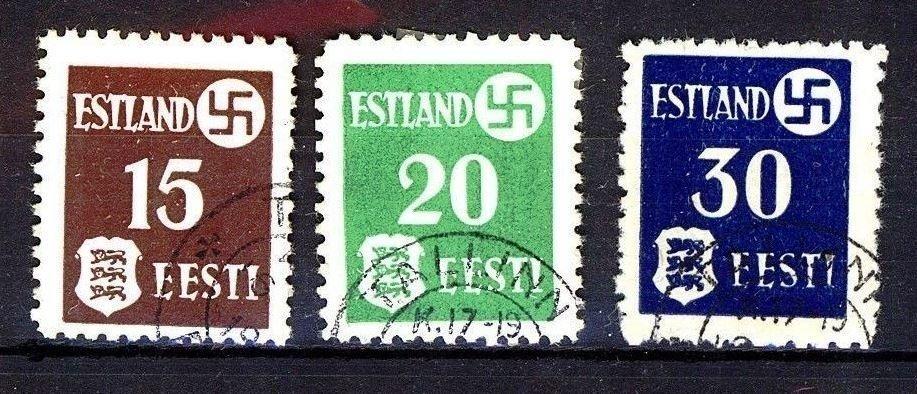 Estonia, Ocupación alemana 1941. Michel # 1/3. Circulado