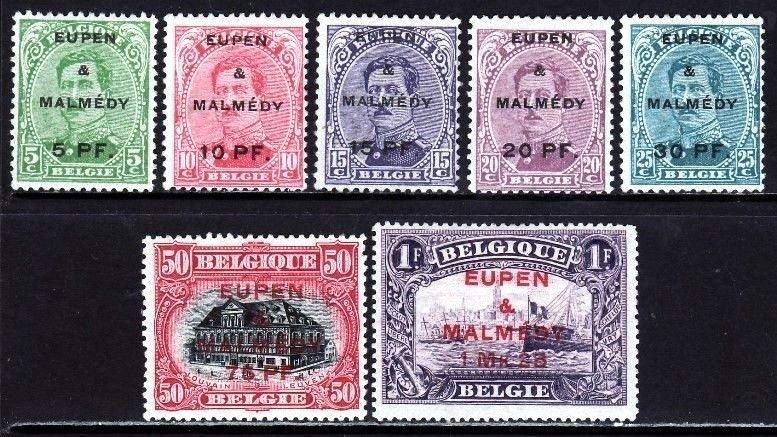 Eupen & Malmedy 1920. Serie completa MH