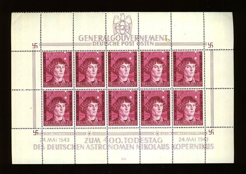 Generalgouvernement 1943. Hojita block Michel # 194. MNH