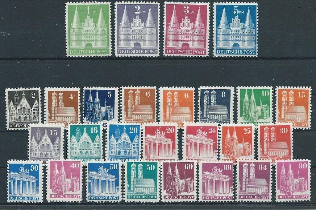 Ocupación aliada. 1948. Serie completa MNH