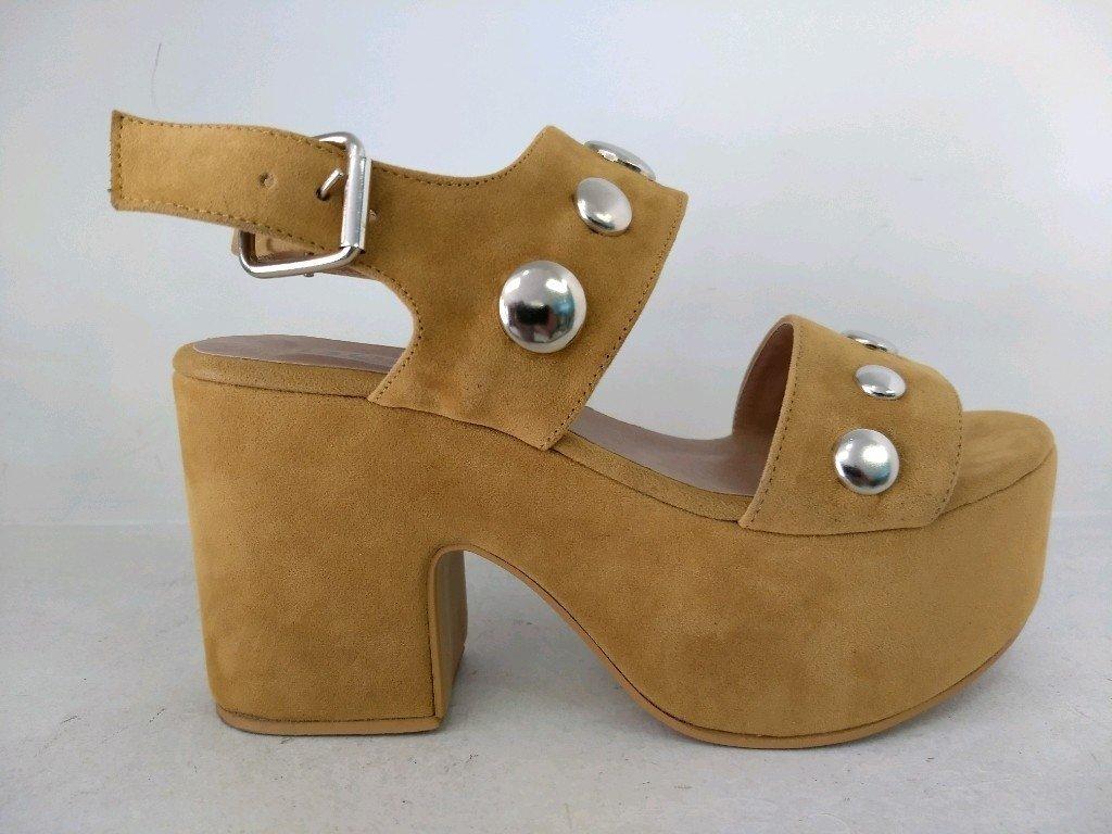Kala Cuero Zapatos Maíz Sandalia Con Tachas AjRc5qS34L