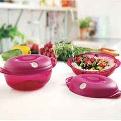 CRISTAL  POP II  1.1 lt  FUCSIA OVAL TUPPERWARE