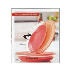 LUXURY BOWL  CORAL  1.5 lt   TUPPERWARE