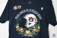 Camisa College NIKE Auburn Tigers NCAA Peach Bowl Draft Store
