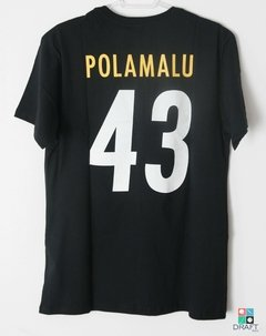 Camisa NFL Pittsburgh Steelers Troy Polamalu Mitchell & Ness Name & Number Preta Draft Store