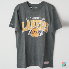 Camisa NBA Los Angeles Lakers Mitchell & Ness Team - Cinza Draft Store