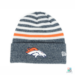 Gorro NFL Denver Broncos New Era Striped Cuff Draft Store
