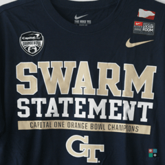 Camisa NIKE College Football Georgia Tech Yellow Jackets Orange Bowl Locker Room Draft Store