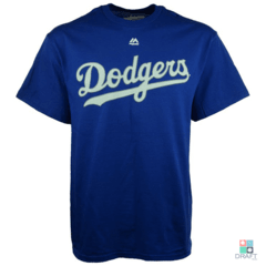 Camisa MLB Los Angeles Dodgers Majestic Wordmark Draft Store