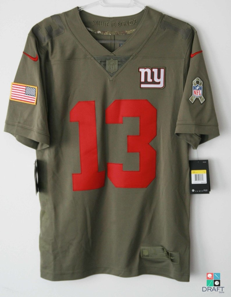 the best attitude ee1a7 671f4 Camisa NFL New York Giants Odell Beckham Jr Nike Salute To Service Limited  Jersey