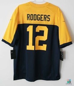 Camisa NFL Aaron Rodgers Green Bay Packers Nike Game Alternate Jersey na internet