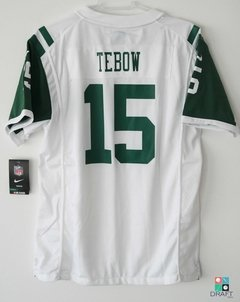 Camisa NFL Tim Tebow New York Jets Nike Youth Game Jersey Branca Draft Store