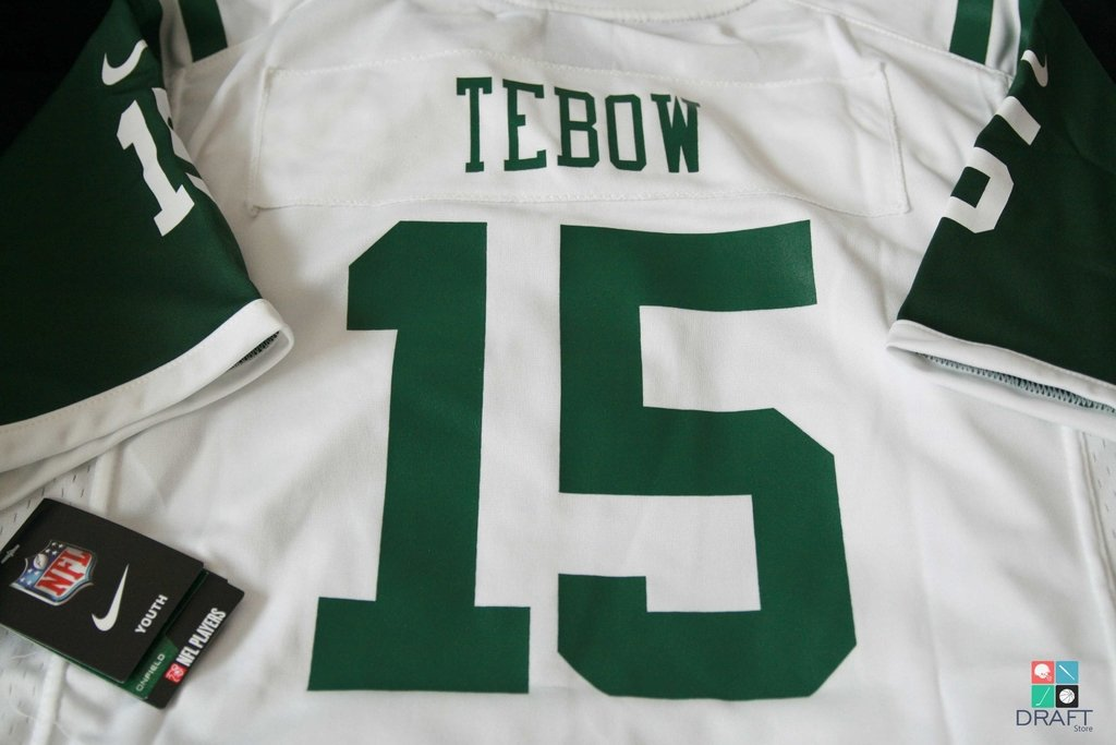 superior quality aa9c5 7072f Camisa NFL Tim Tebow New York Jets Nike Youth Game Jersey Branca