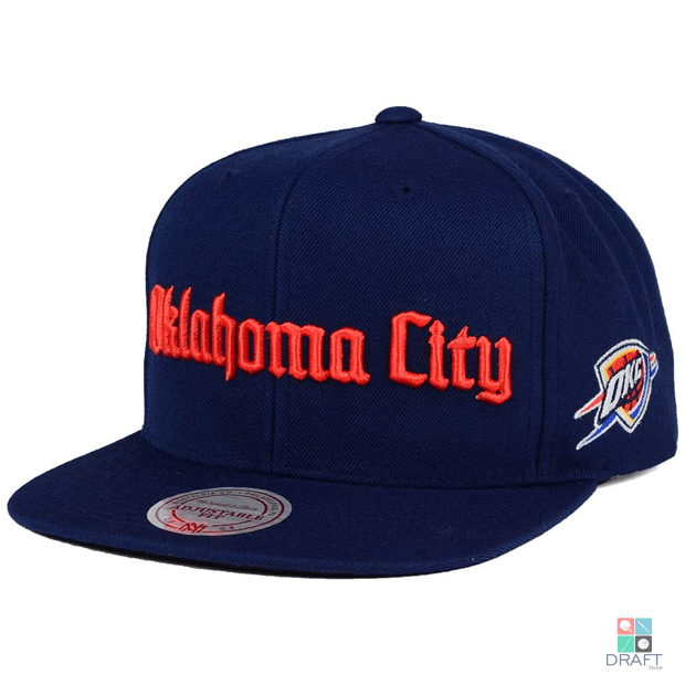 30b0be263 Boné NBA Oklahoma City Thunder Mitchell   Ness Draft Store