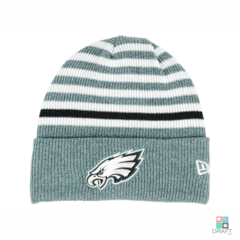 Gorro NFL Philadelphia Eagles New Era Striped Cuff Draft Store