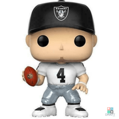 Boneco NFL Derek Carr Oakland Raiders Funko POP Figurine Away Draft Store