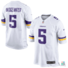 Camisa NFL Teddy Bridgewater Minnesota Vikings Nike Youth Game Jersey (Branca) Draft Store