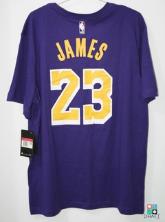 Camisa NBA Los Angeles Lakers Lebron James Nike Dri-Fit Draft Store