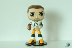 Boneco NFL Aaron Rodgers Green Bay Packers Funko Woobler Action Figure Draft Store