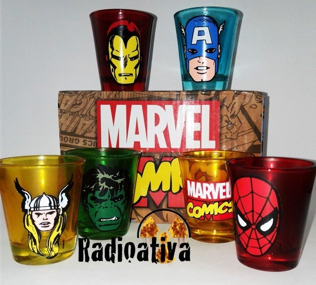 KIT DE COPOS - SHOT MARVEL
