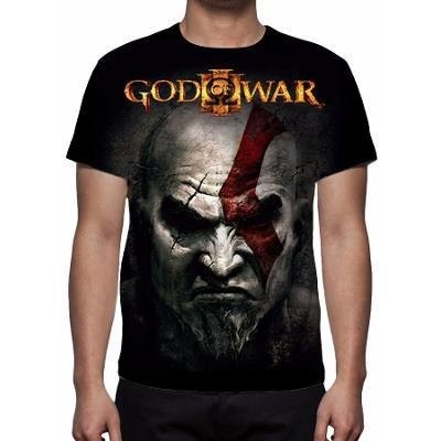CAMISETA - GOD OF WAR - KRATOS FACE
