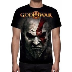 CAMISETA - GOD OF WAR 3 - KRATOS FACE