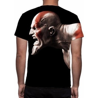 CAMISETA - GOD OF WAR 3 - KRATOS FACE - comprar online
