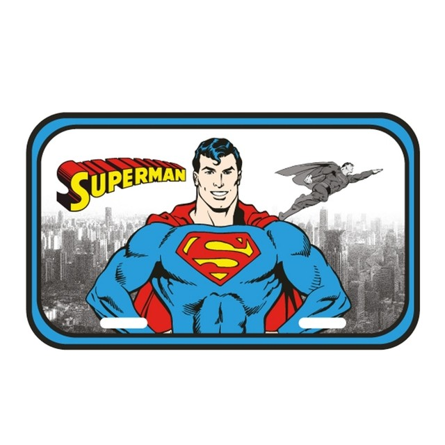 PLACA METÁLICA - DC COMICS - SUPERMAN - DETROIT CITY