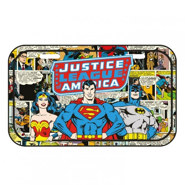 PLACA METÁLICA - DC COMICS - JUSTICE LEAGUE