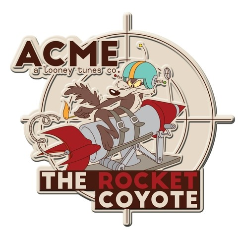 PLACA METÁLICA - THE ROCKET COYOTE - LOONEY TUNES
