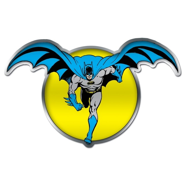 PLACA METÁLICA -  BATMAN AND THE MOON - DC COMICS