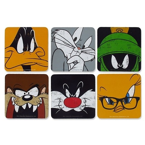 KIT PORTA COPOS - FACES - LOONEY TUNES