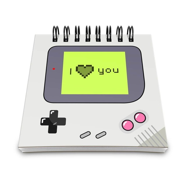 BLOCO DE ANOTAÇÕES - GAMER BOY - I LOVE YOU