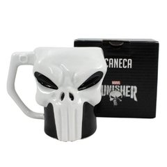 caneca 3d punisher justiceiro marvel