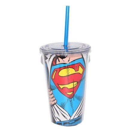COPO COM CANUDO - SUPERMAN - DC COMICS