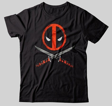CAMISETA - DEADPOOL - ESPADADAS
