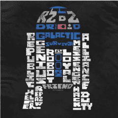 CAMISETA - STAR WARS - DROID WORDS - comprar online