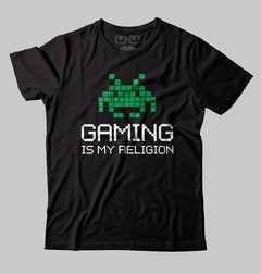 CAMISETA GEEK - GAMING IS MY RELIGION