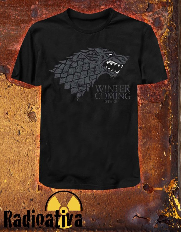 Camiseta Geek e Nerd - Game of Thrones - Stark Winter is Coming