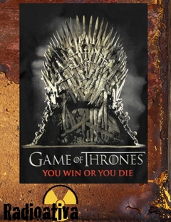 CAMISETA GEEK - GAME OF THRONES - YOU WIN OR YOU DIE