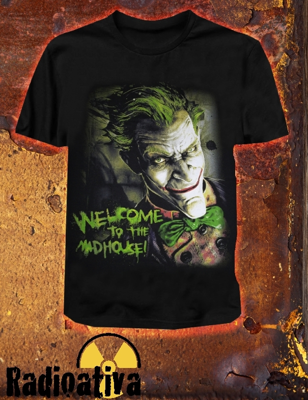 Camiseta Geek e Nerd - Coringa - Welcome To The Madhouse