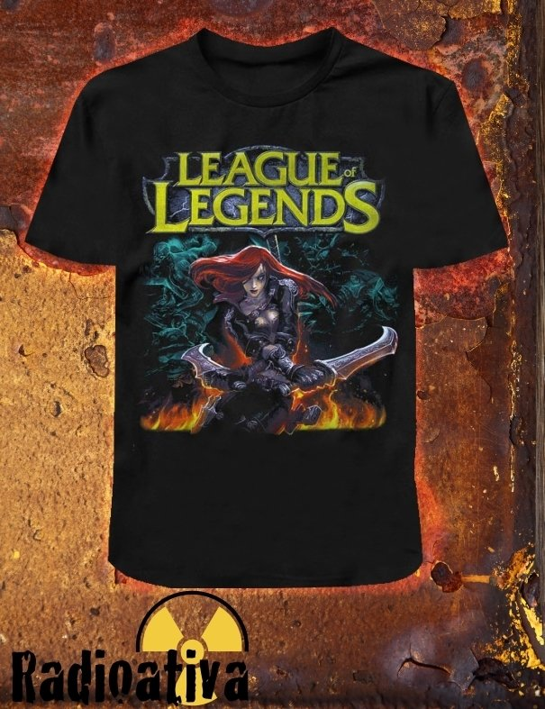 Camiseta Geek e Nerd - LEAGUE OF LEGENDS - KATARINA